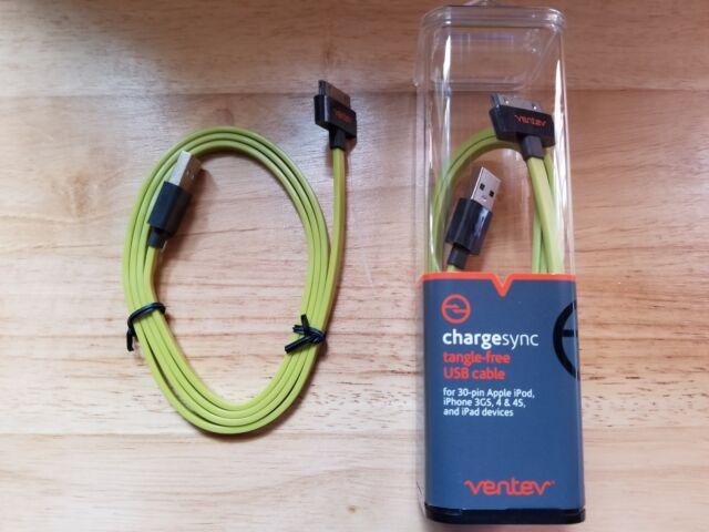 Ventev Flat 3.3 Ft Lightning cable M Apple Lightning to M 4 pin USB Type A