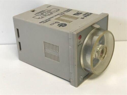 GUARANTEED GOOD USED OMRON 24VAC 5A 0-1HR 1 HOUR TIMING RELAY H3BA-8