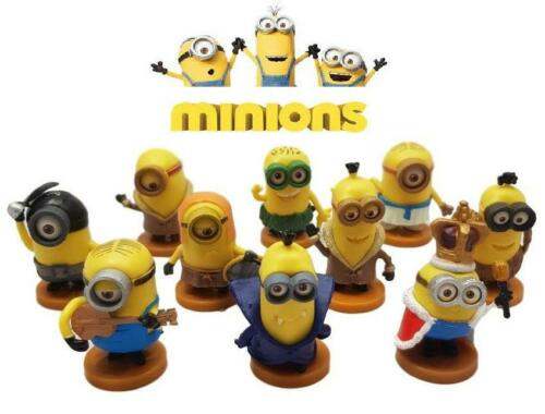 Minions 10 Piece Figure Set Lot Cake Toppers Decoration Despicable Me Pce