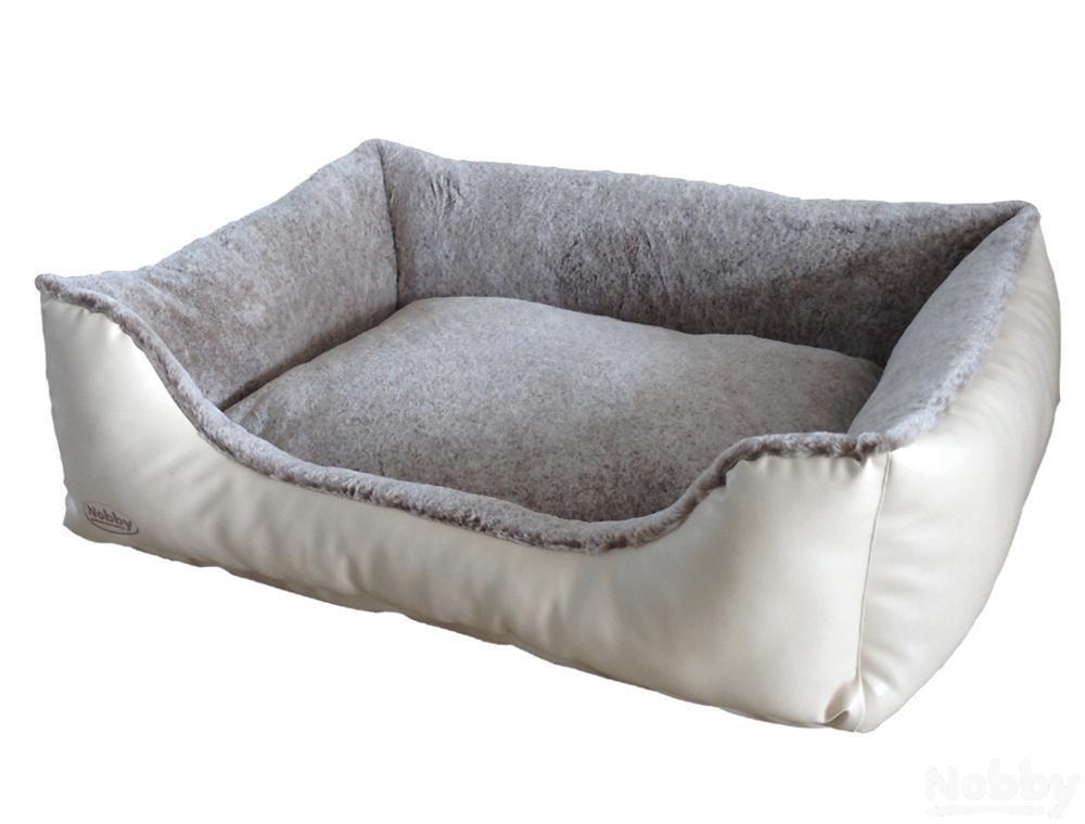 Nobby Komfort Bett eckig CALI creme   hellbraun LxBxH  100x75x25cm