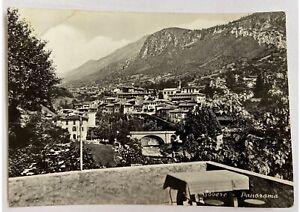 Cartolina-vera-foto-Bromofoto-Sovere-Panorama-anni-50-bianco-e-nero-viaggiata