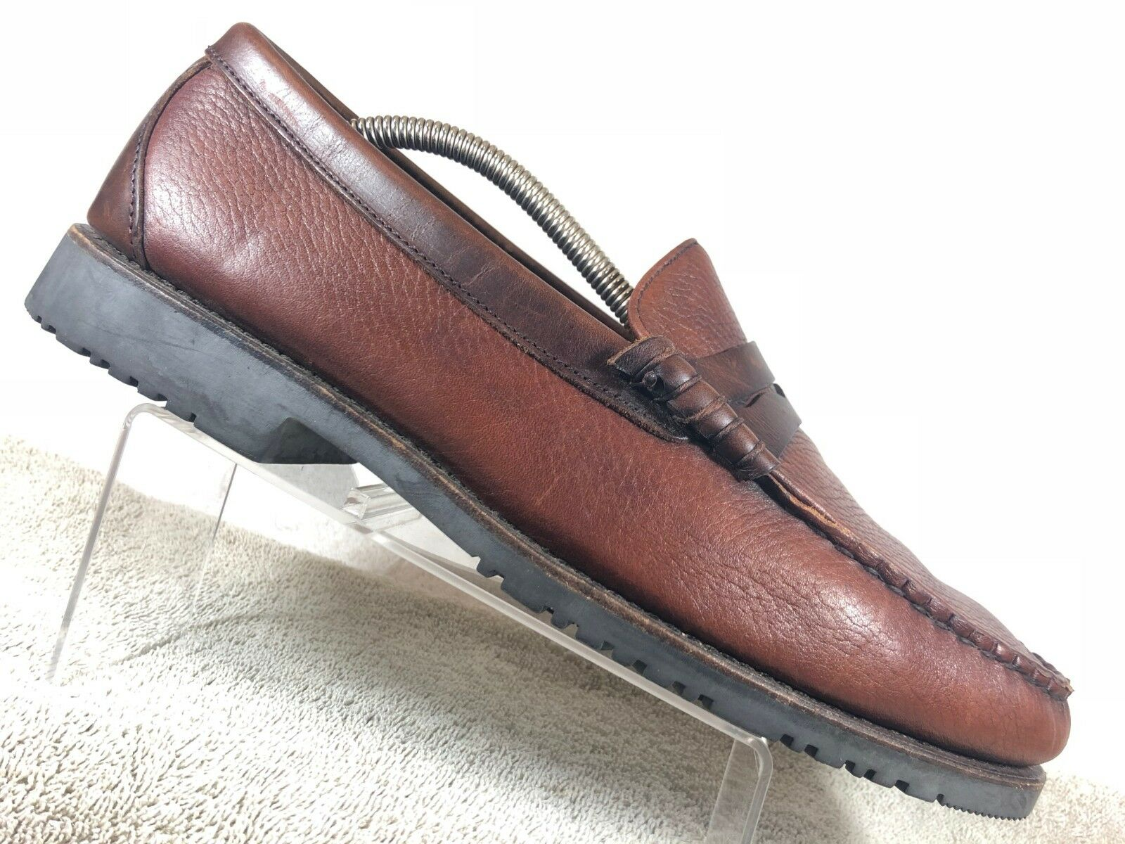 tuttien Edmonds Holton Marronee Leather Casual Moc Toe Penny Loafers Men 11 Sautope classeiche da uomo