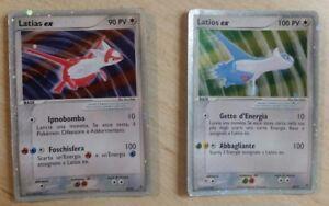 Lotto-Pokemon-Cards-Latias-Ex-Latios-Ex-RARA-HOLO-ITA