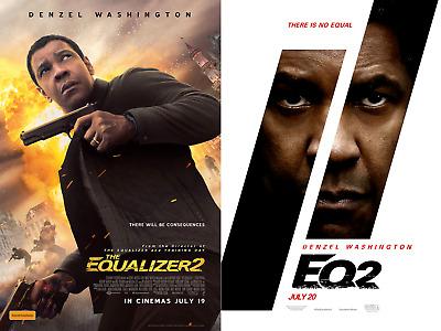 The Equalizer 2 2018 Denzel Washington Bill Pullman Movie Poster 27x40 11x17 Ebay
