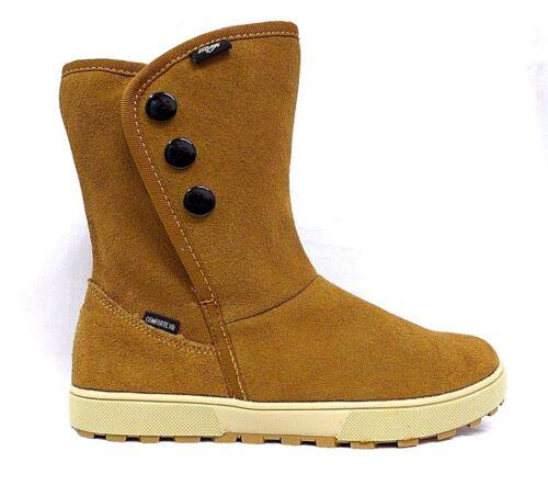 Taglia Velcro Boots Vera Impermeabile Winter Lico 34 41 Marrone pelle 37 H8ftaR