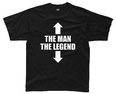 THE MAN THE LEGEND Mens T-Shirt S-3XL Black Funny Printed Rude Joke Slogan Top