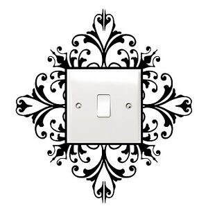Light-Switch-Decal-Sticker-Wall-Art-Scroll-Damask-Pretty-Gift-House-Home-NEW
