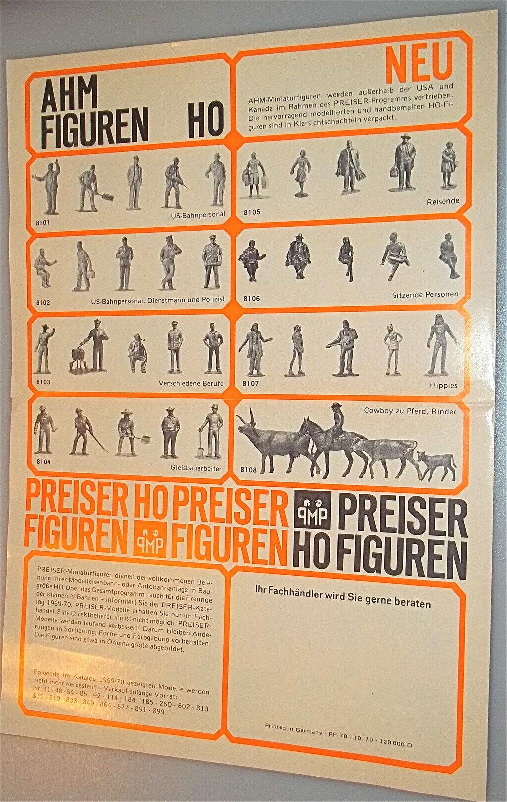 Preiser AHM Figurines Figurines Figurines Info Sheet Å 55ab7a