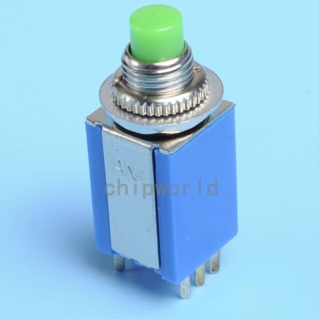AN4-22 8mmx8mm Power Lockless Reset Push Button Switch 6-Pin 2NO 2NC Small Size