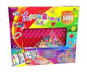 TOP 5000 Teile XXL Loom Starter Kit Set Bänder Bandz Webrahmen S-Clips Anhänger