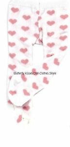 Pink-Heart-Print-Tights-18-in-Doll-Clothes-Fits-American-Girl