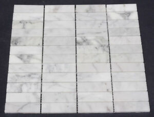 Carrara-Marble-Stacked-Subway-Mosaic-Floor-Wall-Tile-Only-110-per-m2
