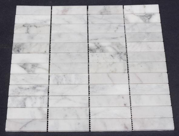 Carrara Marble Small Subway Mosaic Tile Only $110 per m2