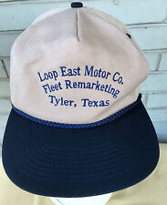 Loop East Motor Company Tyler Texas Snapback Baseball Cap Hat Fleet Marketing