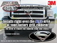 Domed Superman Ford Emblem Overlays 3m™ F-150 Super Duty & Other Models Badass