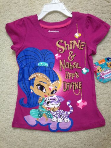 4,5,6,6x New Pink Nickelodeon Short Sleeve Shimmer /& Nahal T-Shirt Girls BFF/'s