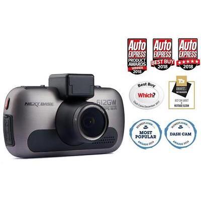 "Nextbase 612GW Dash Cam Front Camera GPS Wifi 4k Ultra HD 3"" Touch Screen"