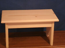 """step stool wooden, rustic wooden step stool, wooden foot stool 9"""" unfinished"""