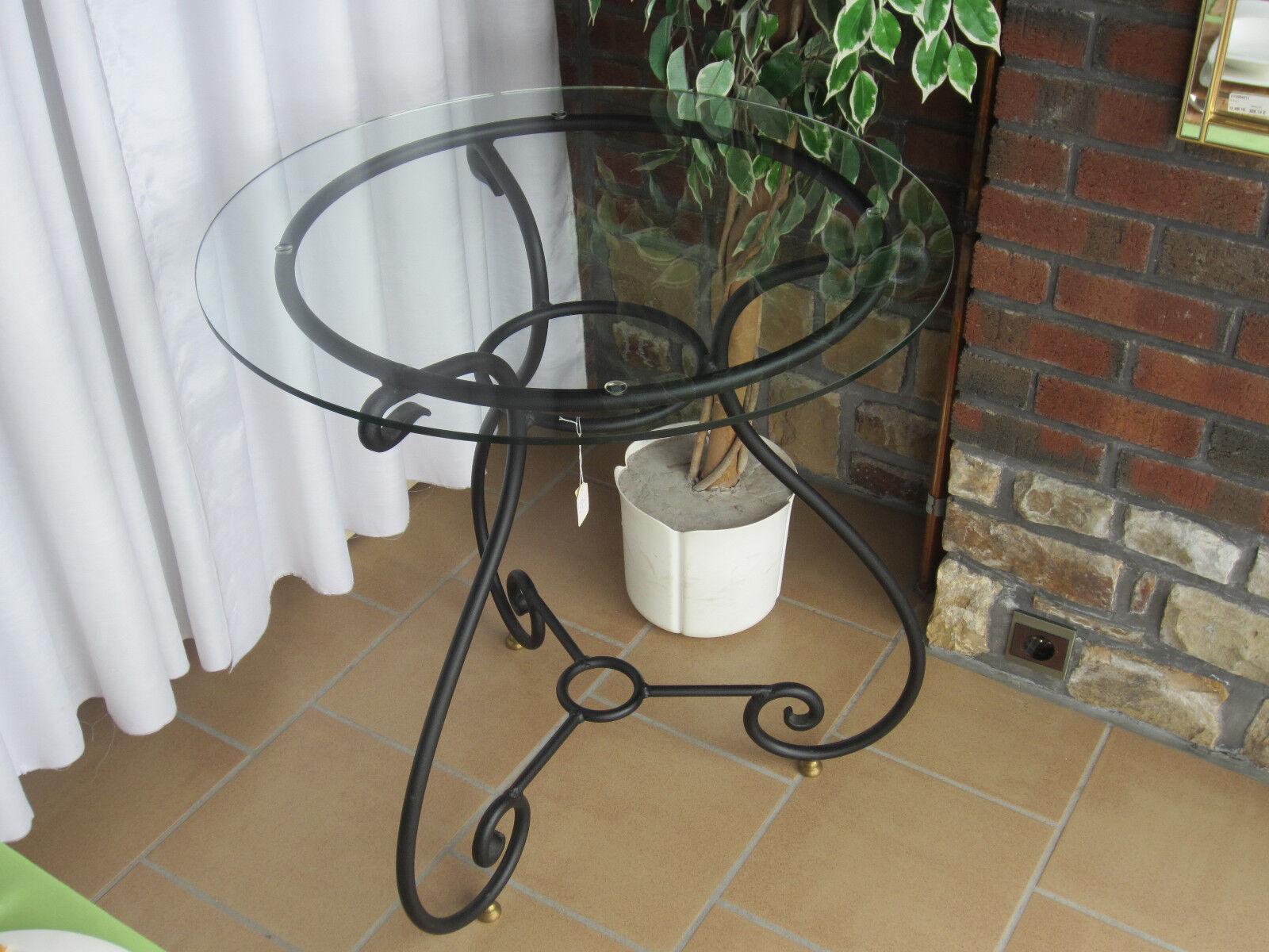 MELARTI NEW Table guéridon hauteur 74,5cm diamètre 70cm fer forgé noir