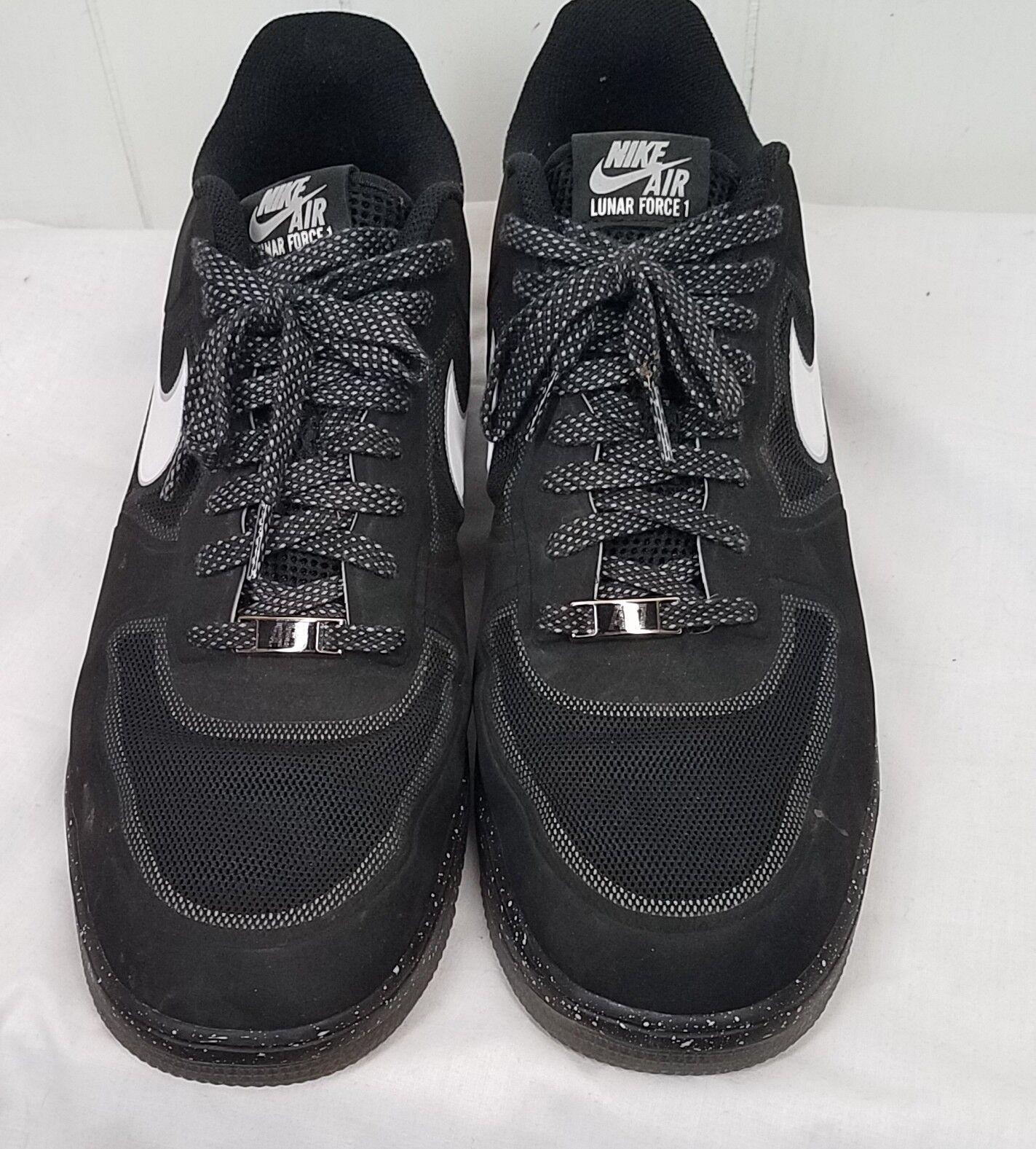Nike Lunar Force 1 Fusible Oreo tamaño 13 baloncesto Hombre Negro Negro Hombre Blanco casual salvaje 67201d