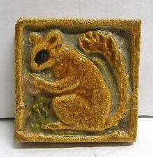 Flint Faience Vintage Squirrel Tile