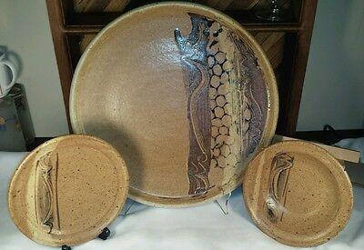 Richard Masterson 1978-79 Signed Studio Art Pottery Lot of 3 Original Handnmade
