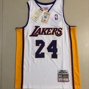 Kobe Bryant White # 24 Mitchell Ness 2001-02 Lakers Jersey ...