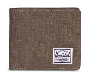 Herschel-Roy-PLUS-Coin-XL-Rfid-Wallet-Portafoglio-Canteen-Crosshatch-Marrone