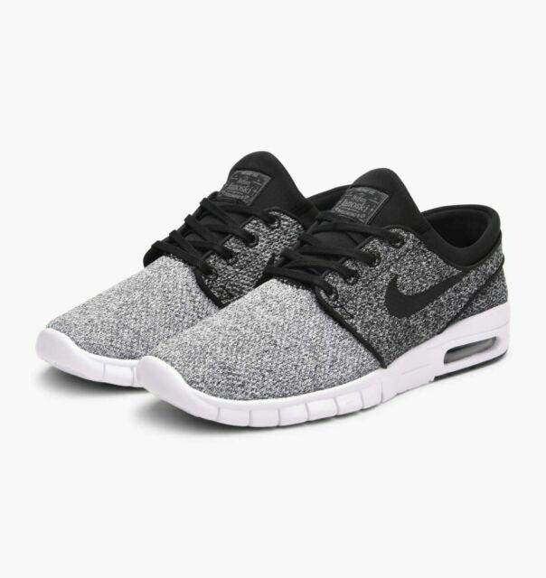 5bc686b5bb929 Nike SB Mens Stefan Janoski Max Knit White & Black Shoes White/black ...