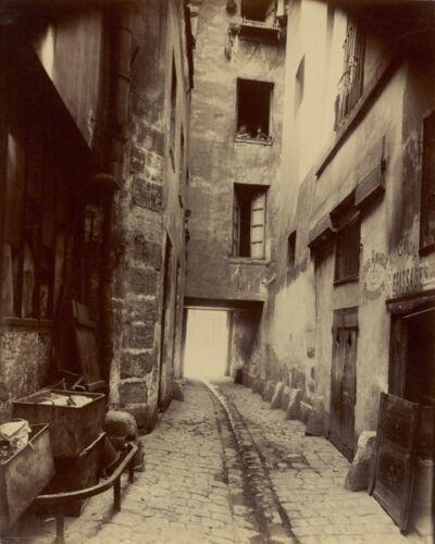 CORNER OF RUE DE SEINE PARIS FRANCE 8X10 PHOTO EUGENE ATGET 1924