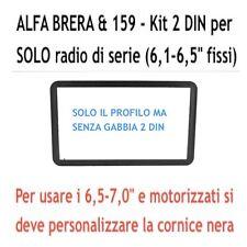 Mascherina Doppio 2 DIN Alfa 159 Brera Spider 06 - metallo fissaggio non incluso