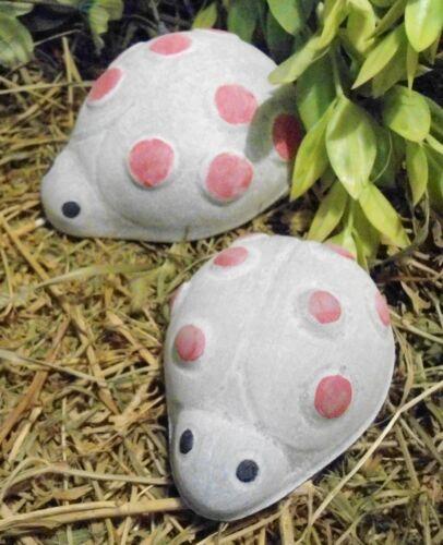 2 Plastic ladybug molds plaster concrete resin casting moulds