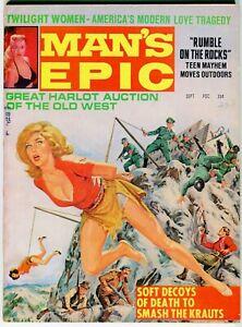 MAN'S EPIC Sept 1966  FN Nazi cover. Men's adventure magazine pulp