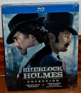 Collection-Sherlock-Holmes-2-Films-2-Blu-Ray-Slipcover-New-Sleeveless-Open-R2