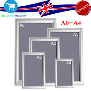 Aluminium A0-A4 Snap Poster Frame Clip Picture Photo Holder Display W// Screws