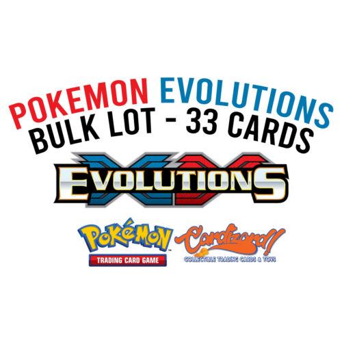 Secret Rares Reverse Holos Holo Rares Pokemon XY Evolutions Bulk Lot 33 Cards