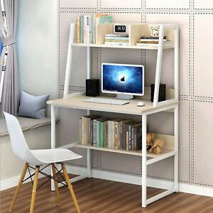 Computer Desk Pc Home Office Study Desk Wooden Small Desk Cherry Wood Metal Uk Ebay