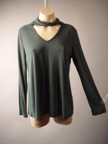 Turtleneck Choker High Neck Minimalist Tee Basic Top Shirt 253 mv Blouse S M L