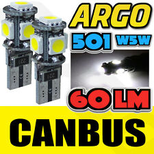 T10 501 W5W CAN-BUS 5000K INTERIOR WHITE LED 5-SMD BULBS