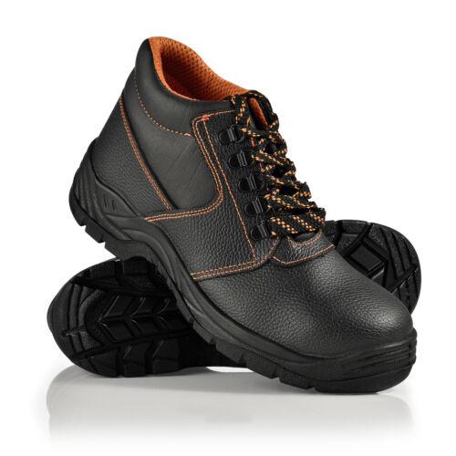 pro.tec® Arbeitsschuhe Gr 41 Sicherheitsschuhe Arbeitsschutz Leder Schuhe S3