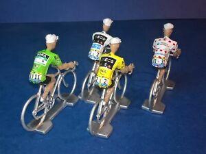 Lot-de-4-cyclistes-Tour-de-France-2019-Maillots-des-vainqueurs-Cycling-Figure