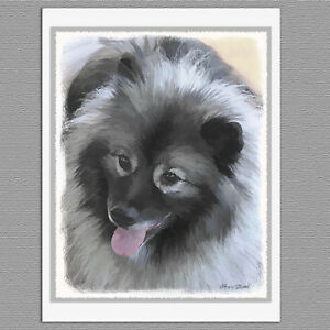 6-Keeshond-Bailey-Dog-Blank-Art-Note-Greeting-Cards