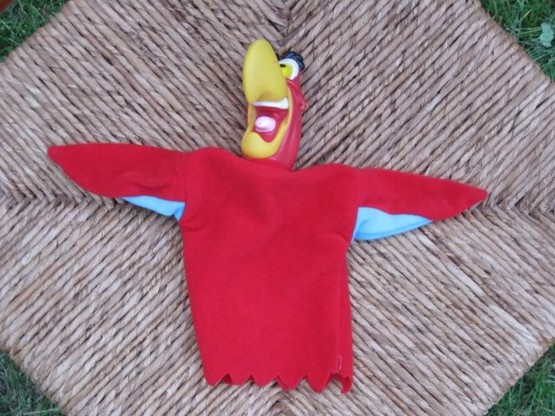 Lot of 6 Dutch Hand Finger Puppets Aladdin Parrot Parrot Parrot Penguin Cow Dog Monkey c57db3