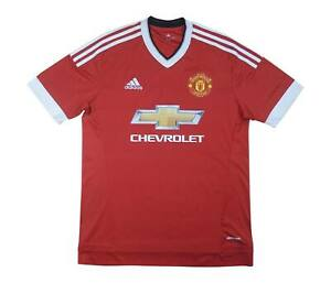 Manchester United 2015-16 Authentic Home Shirt (eccellente) M SOCCER JERSEY