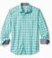 Tommy Bahama Newport Coast Loto Check Shirt T323310 $125 Mint Mojito