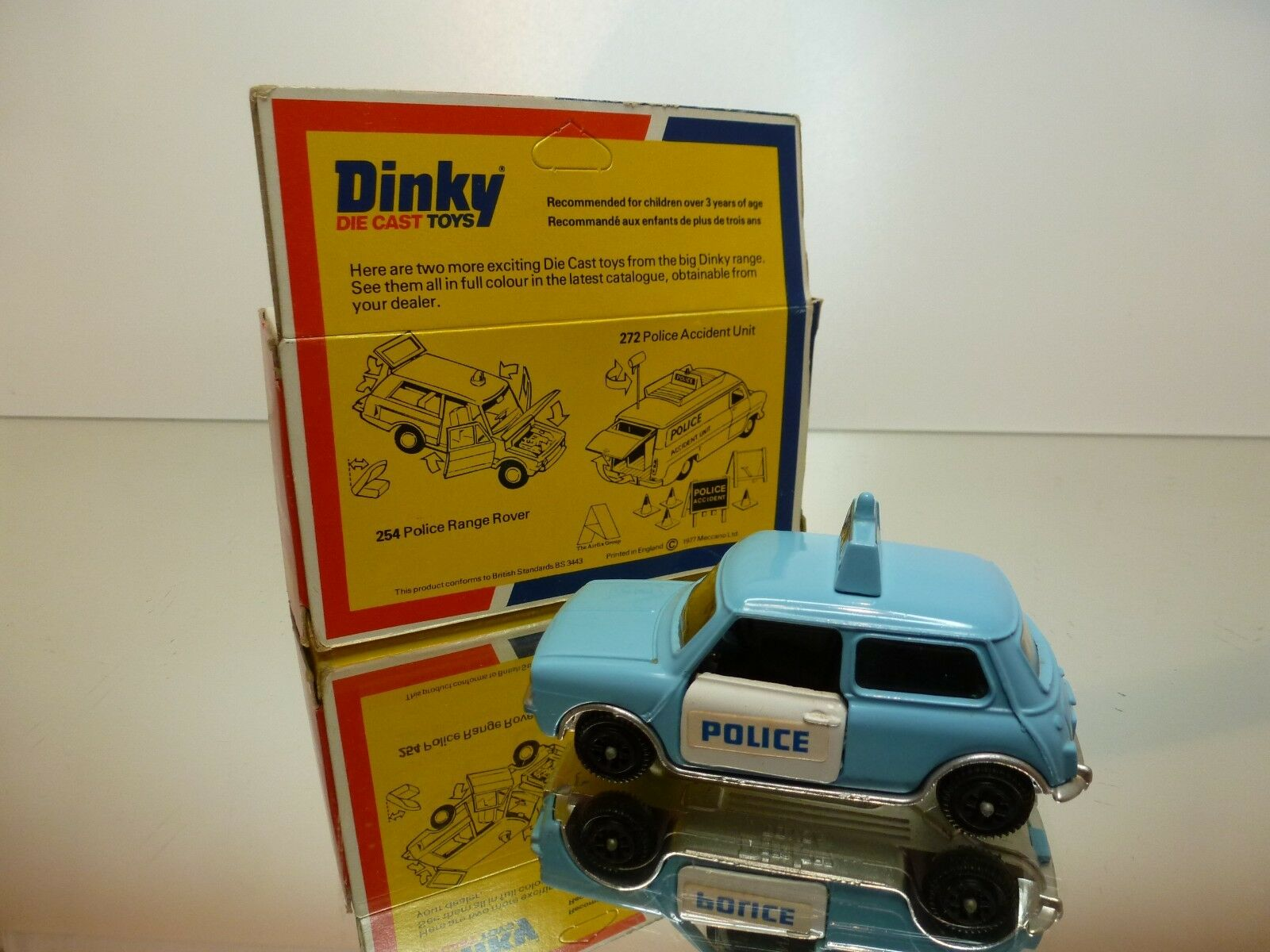 DINKY TOYS 255 POLICE MINI CLUBMAN CLUBMAN CLUBMAN - azul + blanco  - VERY GOOD IN BOX a441d9