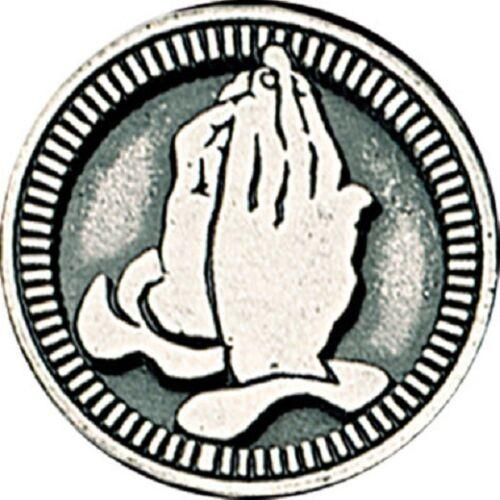 Sérénité Prière verset Poche jeton médaille souvenir priant mains en métal 3.5 cm Solide