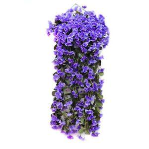 Artificial-Hortensia-Flor-Violeta-Colgante-Guirnalda-Decoracion-de-Planta-Flores-de-Vid