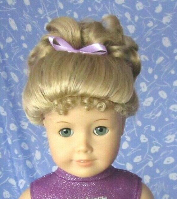 Imsco UP-DO Blond  Doll Wig Full Cap Size 11-12, Curly Up-do