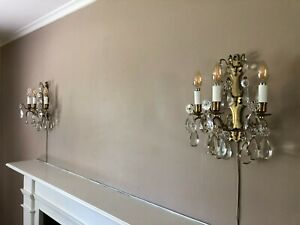 French Antique Chandelier and Sconces